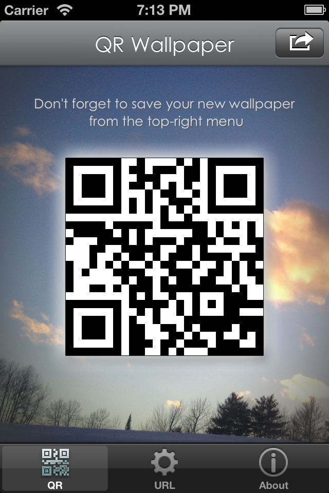 QR Wallpaper (and lock screen)